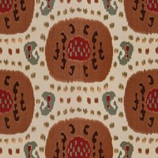 Brown On Beige Ikat Decorator Fabric by Brunschwig & Fils