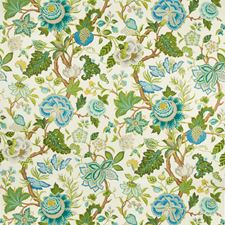 Spring/Aqua Botanical Decorator Fabric by Brunschwig & Fils