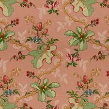 Coral Botanical Decorator Fabric by Brunschwig & Fils