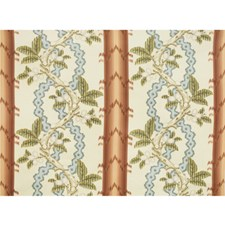Rust and Blue Botanical Decorator Fabric by Brunschwig & Fils