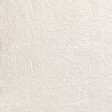 Antique White Paisley Decorator Fabric by Brunschwig & Fils