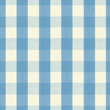 French Blue Check Decorator Fabric by Brunschwig & Fils