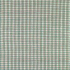 Aquamarine Check Decorator Fabric by Brunschwig & Fils