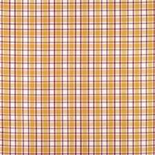 Yellow/Pink Plaid Decorator Fabric by Brunschwig & Fils
