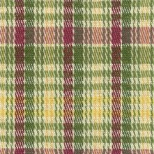 Fuchsia/Grass/Straw Plaid Decorator Fabric by Brunschwig & Fils