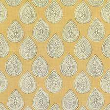 Yellow/Grey/White Paisley Decorator Fabric by Kravet