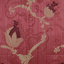 Plum/Linen On Wine Decorator Fabric by Scalamandre