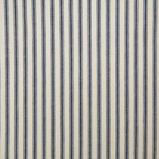 Navy Stripe Decorator Fabric by Pindler