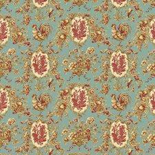 Robins Egg Birds Decorator Fabric by Kasmir