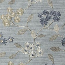 Azure Embroidery Decorator Fabric by Duralee