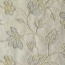 Aqua/Green Crewel Decorator Fabric by Duralee