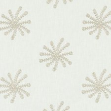 Antique White Embroidery Decorator Fabric by Duralee