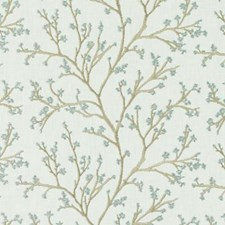 Turquoise/olive Decorator Fabric by Duralee