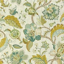 Beige/Light Blue/Green Botanical Decorator Fabric by Kravet