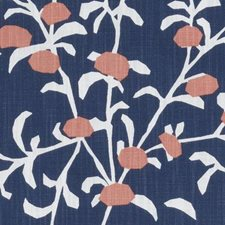 Sapphire Floral Stylized Decorator Fabric by Duralee