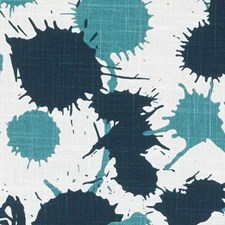 Teal Abstract Decorator Fabric by Duralee