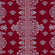 Poppy Red Medallion Decorator Fabric by Duralee