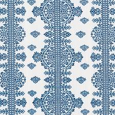 Blue/Green Medallion Decorator Fabric by Duralee