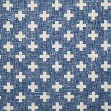 Navy Print Decorator Fabric by Pindler
