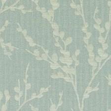 Aquamarine Floral Vine Decorator Fabric by Duralee