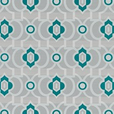 Teal Geometric Decorator Fabric by Duralee