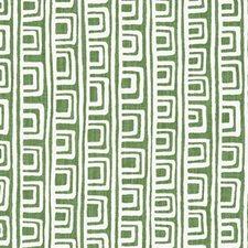 Apple Green Stripe w Decorator Fabric by Duralee