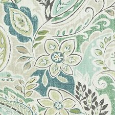 Aloe Paisley Decorator Fabric by Duralee