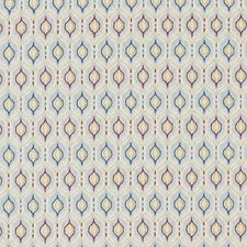 Blue Geometric Decorator Fabric by Duralee