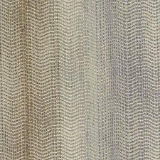Cocoa/Silver Stripe w Decorator Fabric by Duralee