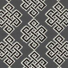 Black/White Medallion Decorator Fabric by Duralee