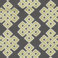 Citron Medallion Decorator Fabric by Duralee