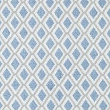 Natural/Blue Diamond Decorator Fabric by Duralee