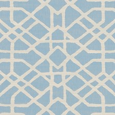 Sky Blue Trellis Decorator Fabric by Duralee