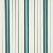 Aqua Stripes Decorator Fabric by Threads