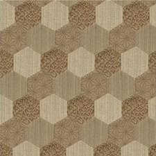 Bronze Embroidery Decorator Fabric by Threads