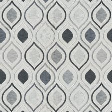 Grey/Silver Ogee Decorator Fabric by JF