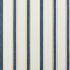 Navy Stripes Decorator Fabric by Clarke & Clarke
