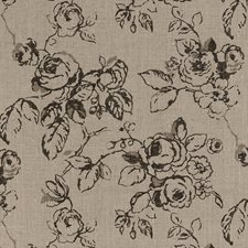 Linen Floral Large Decorator Fabric by Clarke & Clarke