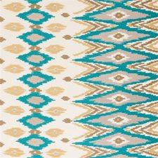 Teal Diamond Decorator Fabric by Clarke & Clarke