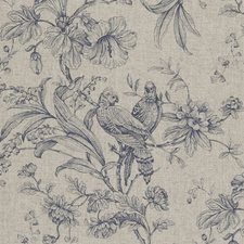 Denim Birds Decorator Fabric by Clarke & Clarke