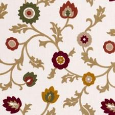Spice Crewel Decorator Fabric by Clarke & Clarke