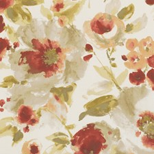 Spice Floral Large Decorator Fabric by Clarke & Clarke