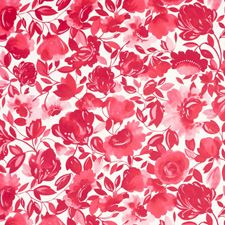 Raspberry Floral Large Decorator Fabric by Clarke & Clarke