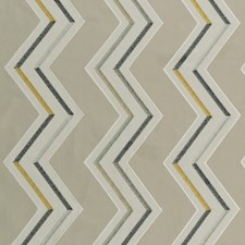 Natural/Chartreuse Weave Decorator Fabric by Clarke & Clarke