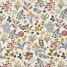 Indigo/Cranberry Decorator Fabric by Clarke & Clarke