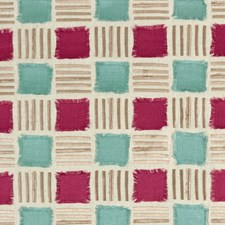 Raspberry/Mineral Weave Decorator Fabric by Clarke & Clarke