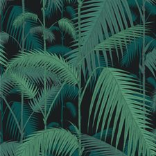 Viri/Pet On Blk Botanical Decorator Fabric by Cole & Son