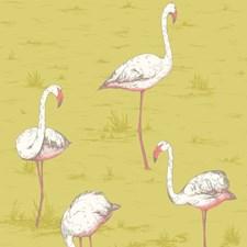 Ochre Animal Decorator Fabric by Cole & Son