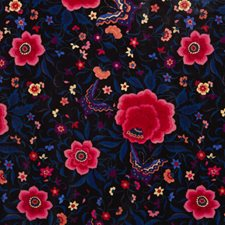 Habana Velvet Black Decorator Fabric by Clarke & Clarke