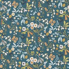 Denim/Spice Decorator Fabric by Clarke & Clarke